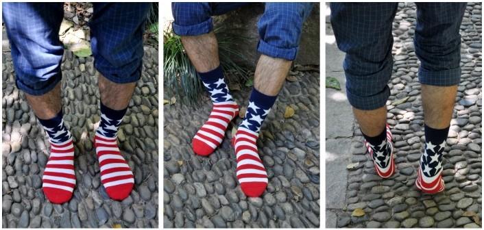 ถุงเท้าเกาหลีลายธงชาติ