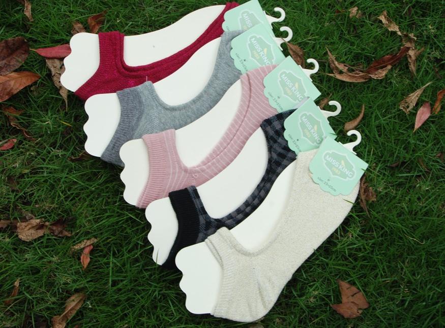 S279 **พร้อมส่ง** (ปลีก+ส่ง) ถุงเท้า แฟชั่นสไตล์ญี่ปุ่น สีล้วน เทา,ดำ เนื้อดี งานนำเข้า(Made in China)