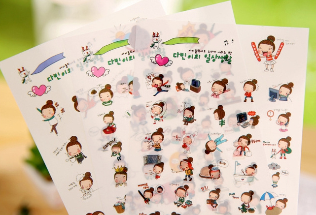 สติ๊กเกอร์ชุด : Amorous girl sticker