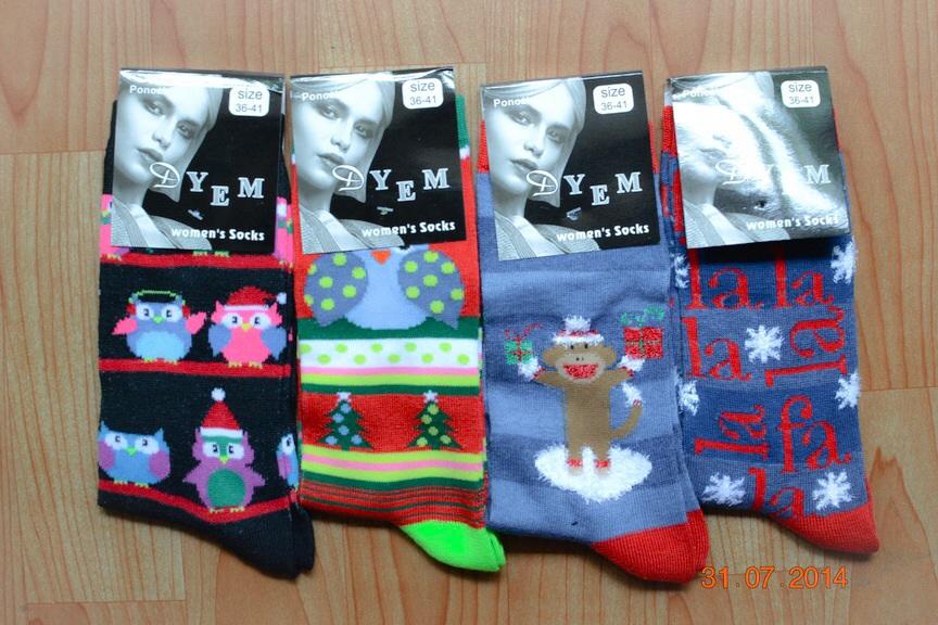 S263**พร้อมส่ง** (ปลีก+ส่ง) ถุงเท้าผู้หญิง ข้อยาว คละ ลาย เนื้อดี งานนำเข้า(Made in China)