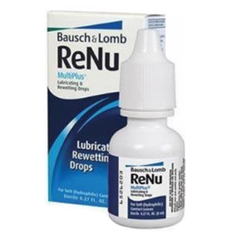 RENU MULTIPLUS LUBRICATING 8ML น้ำตาเทียมสำหรับคนใส่คอนแทคเลนส์ ไม่ทำให้ระคายเคือง ช่วยให้ความชุ่มชื้น