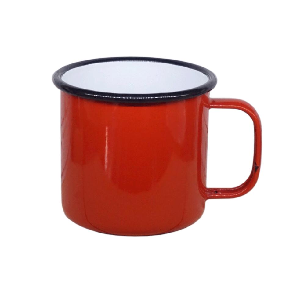 Enamel Mug 12cm w/ rim color (Thai-Grade)