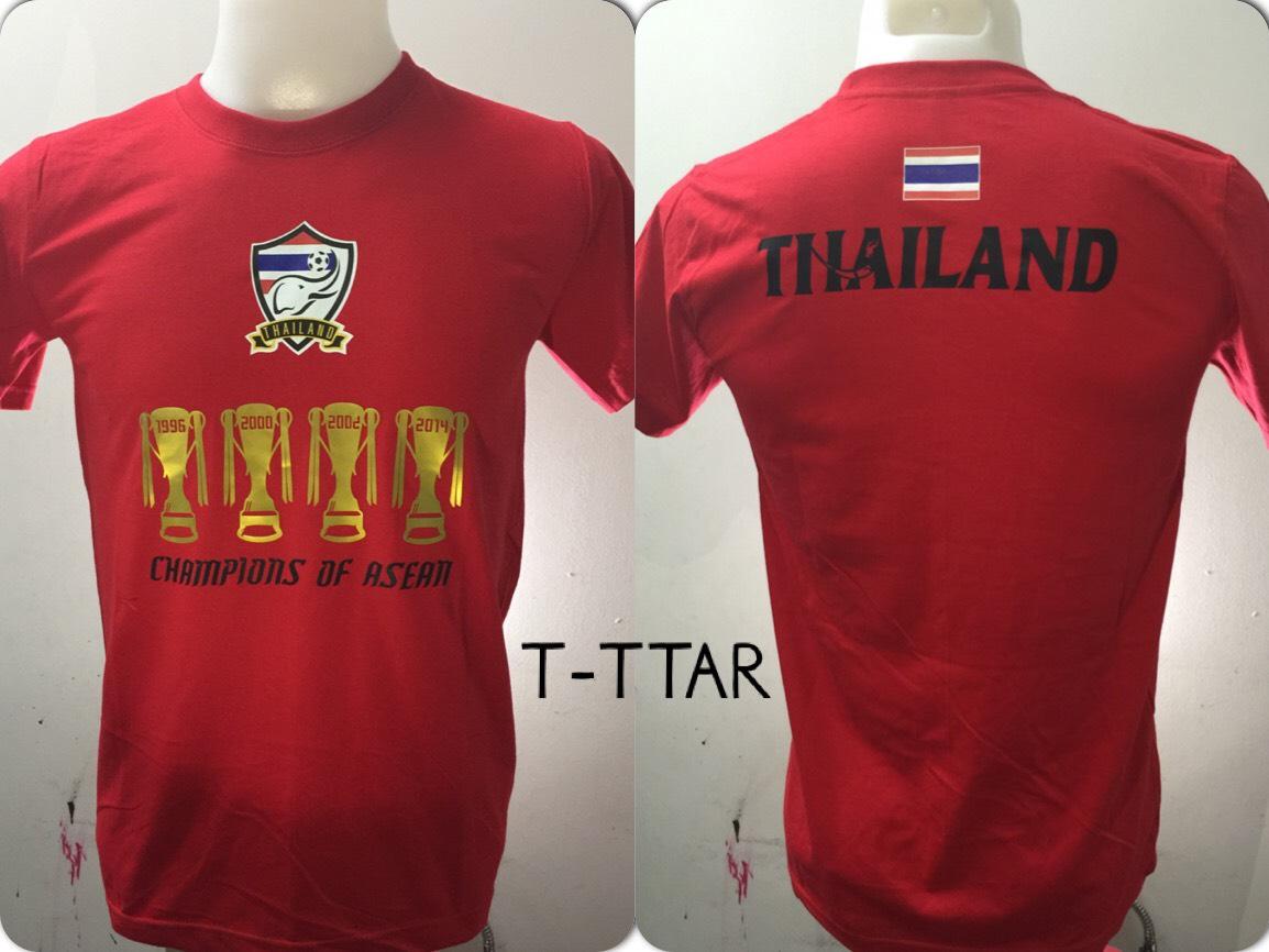 เสื้อยืด ทีมชาติไทย ลาย ราชาAEC แดง T-TTAR