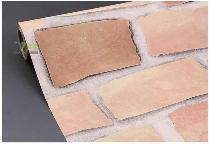 f8078 wall paper ลายอิฐบล็อค หน้ากว้าง 45 ซม ยาว 10เมตร