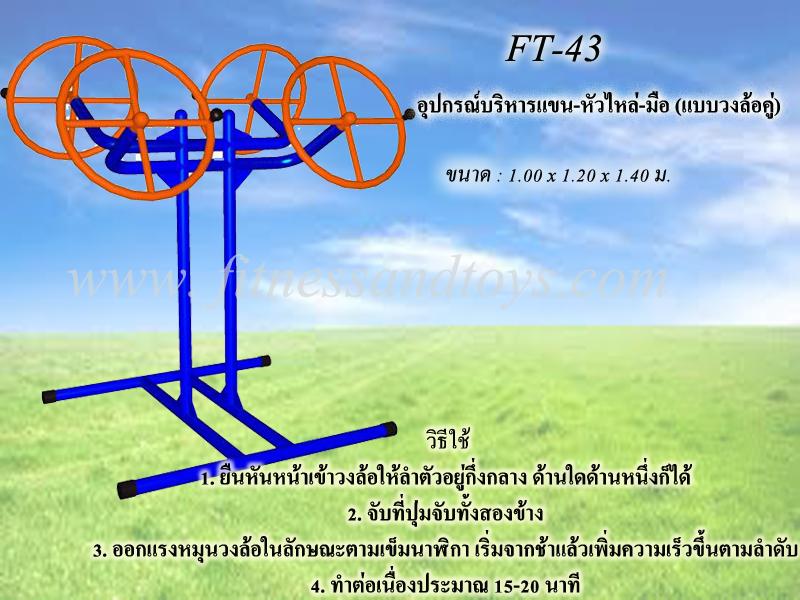 FT-43 อุปกรณ์บริหารแขน-หัวไหล่-มือ (แบบวงล้อคู่)