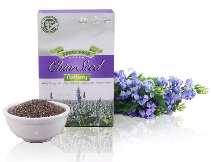 Chia Seeds (เมล็ดเชีย) ตรา เนธารี่ Nathary 450g ส่งฟรี EMS