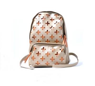 กระเป๋าเป้แฟชั่น Unihouse ทูโทน ครีม - ส้ม