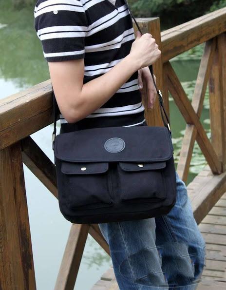 กระเป๋าแฟชั่นผู้ชายกระเป๋ายีนส์ MMG สีดำใบกลาง งานเนี้ยบเทรนด์ฮิตติดชาร์ท สไตล์ Street เท่ๆ