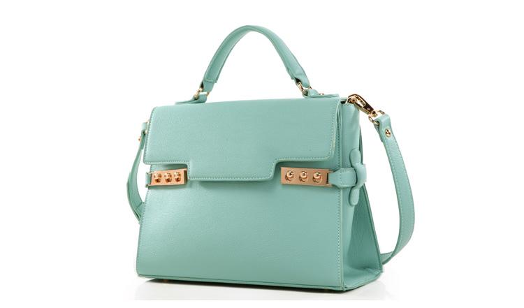 กระเป๋าแฟชั่น Axixi สีเขียว Design เรียบ