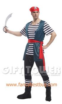 ชุดแฟนซีผู้ชาย ชุดโจรสลัด Northern Europe Pirates ขนาดฟรีไซด์