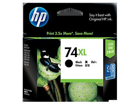 HP 74XL ตลับหมึกอิงค์เจ็ท สีดำ High Yield Black Original Ink Cartridge (CB336WA)