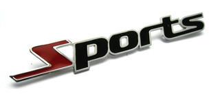 สติ๊กเกอร์ติดรถ sports 2x11cm งานโลหะ