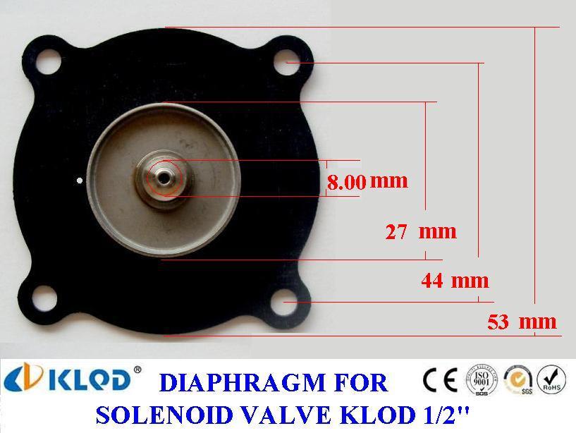 ยาง Diaphragm solenoid KLOD 1/2 นิ้ว และ 3/4 นิ้ว