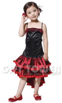 ชุดฟลาเมงโก Flamenco Girl ชุดเต้นรำประจำชาติสเปนเด็ก ชุดแฟนซีนานาชาติของสเปน ขนาด L, XL