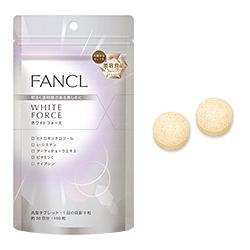 ขาวด้วยเทคโนโลยีชั้นสูงจากญี่ปุ่น 30วัน - Fancl White Force อาหารเสริมเพิ่มกระบวนการสร้างกลูต้าไธโอนในร่างกาย คงความสาวเป็นหนุ่ม-สาวสร้างผิวขาวอย่างยั่งยืน รวมทั้งยังขจัดสารพิษยับยั้งการสร้างเม็ดสีผิวได้สูงถึง 80% ผิวจะขาวขึ้น นวลเนียนขึ้น อ่อนเยาว์ขึ้นสร