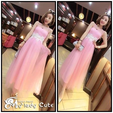 ชุดเดรสยาว แฟชั่นเกาหลี maxi dress