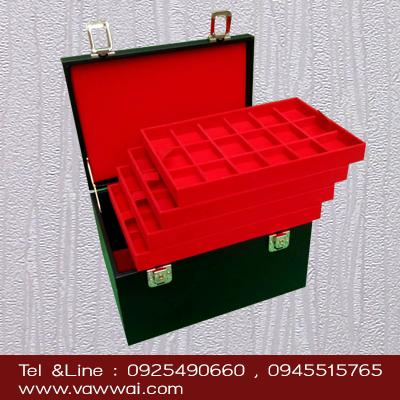 กล่องใส่พระแบบกระเป๋าเจมบอล 5 ชั้น 90 ช่อง ทนและทำความสะอาดง่าย มีกุญแจล็อก 2 ตัว (จัดส่งฟรี)