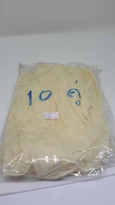 ถุงมือยางไซค์ M 10 คู่/แพ็ค