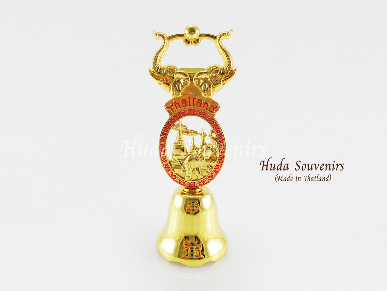 ของที่ระลึกไทย กระดิ่งทองเหลือง ที่เปิดฝาขวด ลวดลายเอกลักษณ์ไทย สินค้าบรรจุในกล่องเรียบร้อย