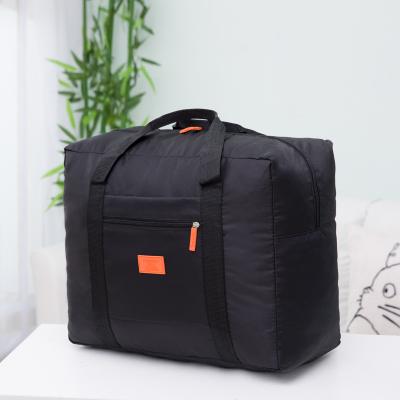 (สีดำ) กระเป๋าเดินทางพับเก็บได้ สามารถพ่วงกับกระเป๋าเดินทางรถเข็นได้ ขนาด 42 x 34 x 18 CM ความจุ 30 ลิตร
