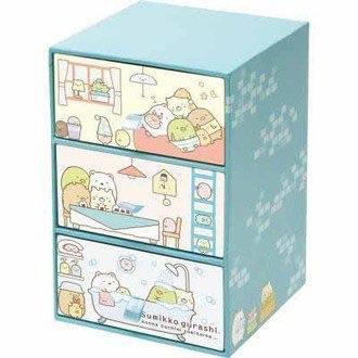 กล่องใส่ของ 3 ชั้น Sumikko Gurashi (สีฟ้า)