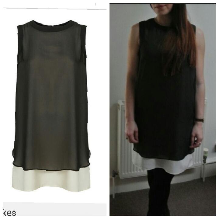 Topshop Black Dress size uk12