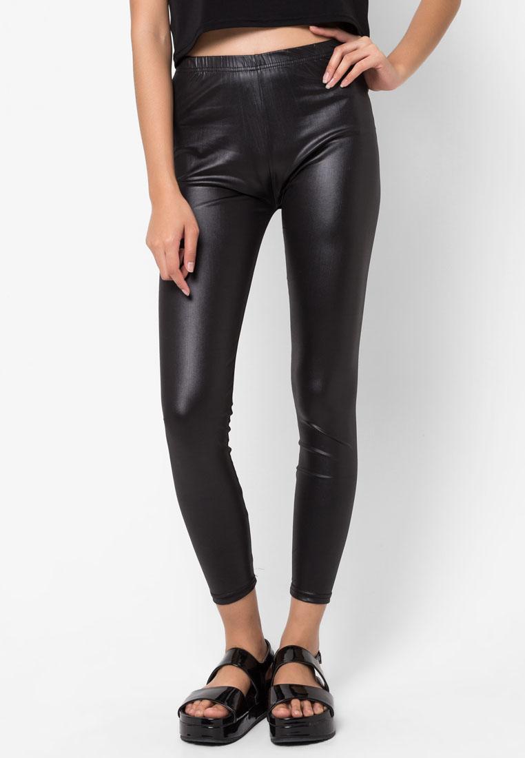 กางเกงเลกกิ้ง Leather Effect