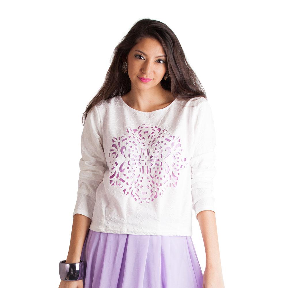 Stencil T-Shirt - Purple