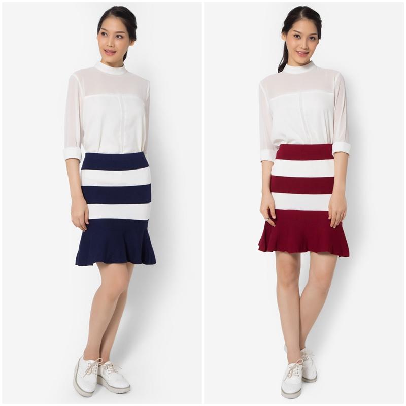 กระโปรง Bold Stripes