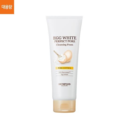 (Pre-order) Skinfood Egg White Perfect Pore Cleansing Foam [Jumbo Size] 250 ml. โฟมล้างหน้าจากไข่ขาว