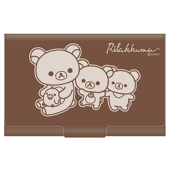 กล่องใส่นามบัตร Rilakkuma สีน้ำตาล 1