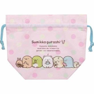 ถุงผ้าทรงกว้าง Sumikko Gurashi สีชมพู